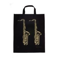XL Tote Bag Sax Black & Gold
